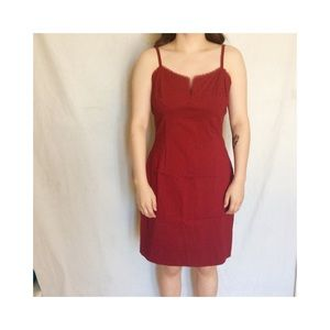 Express Lace Dress Red Party Holiday